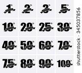 anniversary icons. vector logo... | Shutterstock .eps vector #345037856