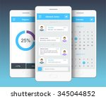 vector phone chat interface.... | Shutterstock .eps vector #345044852