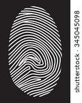 white fingerprint on a black... | Shutterstock .eps vector #345045098