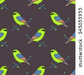 vector cute colorful canary...   Shutterstock .eps vector #345055955