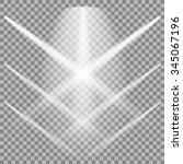 vector set of white spotlights...   Shutterstock .eps vector #345067196