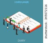 diary schedule calendar planner ... | Shutterstock .eps vector #345072116