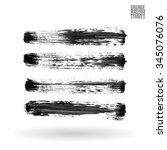 brush stroke and texture.... | Shutterstock .eps vector #345076076