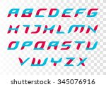 modern two color font. creative ... | Shutterstock .eps vector #345076916