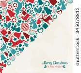 design with christmas elements   Shutterstock .eps vector #345078812