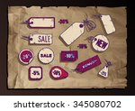 vector illustration of sale... | Shutterstock .eps vector #345080702