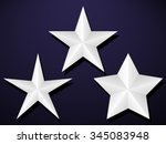 set of five pointed stars | Shutterstock .eps vector #345083948