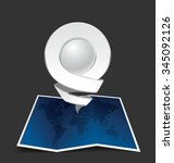 location icon. white color on... | Shutterstock .eps vector #345092126