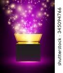 vector present box illustration | Shutterstock .eps vector #345094766