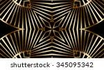 decorative gold metal background | Shutterstock . vector #345095342