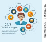 customer service  technical... | Shutterstock .eps vector #345106016