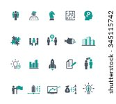 business training icon set | Shutterstock .eps vector #345115742
