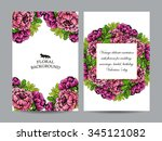 invitation with floral... | Shutterstock . vector #345121082