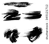 vector set of grunge brush... | Shutterstock .eps vector #345121712