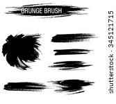 vector set of grunge brush... | Shutterstock .eps vector #345121715