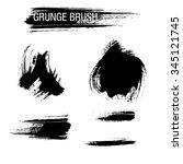 vector set of grunge brush... | Shutterstock .eps vector #345121745