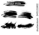 vector set of grunge brush... | Shutterstock .eps vector #345121802