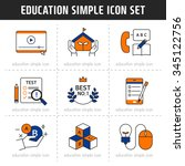 education simple icon set | Shutterstock .eps vector #345122756