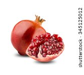 pomegranates fruit with cut... | Shutterstock . vector #345125012