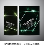 abstract green shining.... | Shutterstock .eps vector #345127586