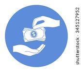 receiving money banknotes stack ...   Shutterstock .eps vector #345127952