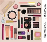 set for makeup | Shutterstock .eps vector #345139736