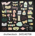 doodle calligraphic funny... | Shutterstock .eps vector #345140708
