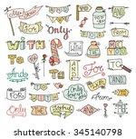 doodle calligraphic funny... | Shutterstock .eps vector #345140798
