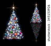 abstract christmas tree... | Shutterstock .eps vector #345153926