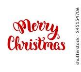 merry christmas lettering ... | Shutterstock .eps vector #345154706