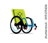 vector wheelchair handicap... | Shutterstock .eps vector #345155606