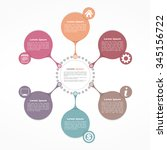 circle flow diagram template... | Shutterstock .eps vector #345156722