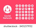 it is a set of social network... | Shutterstock .eps vector #345157952