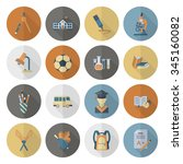school and education icon set.... | Shutterstock .eps vector #345160082