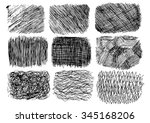 set of sketch textures | Shutterstock .eps vector #345168206