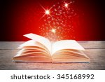 Abstract Red Magic Book On...