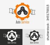 auto logo design template.... | Shutterstock .eps vector #345170015
