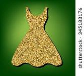 dress illustration. golden icon