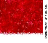 greeting card red with ice... | Shutterstock . vector #345183536