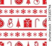 seamless simple christmas... | Shutterstock .eps vector #345183746