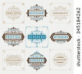 set of vintage designs  logos... | Shutterstock .eps vector #345184262