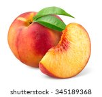 Peach Isolated On White.