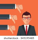 angry businessman and many... | Shutterstock .eps vector #345195485