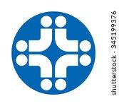 cross medical logo vector. | Shutterstock .eps vector #345199376
