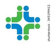cross medical logo vector. | Shutterstock .eps vector #345199412