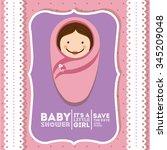 baby shower invitation design ... | Shutterstock .eps vector #345209048
