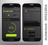 dark mobile graphic ui vector...