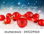 christmas background    Shutterstock . vector #345229565