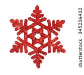 Glitter Red Snowflakes ...