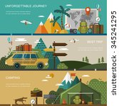 outdoor activity concept banner ... | Shutterstock . vector #345241295